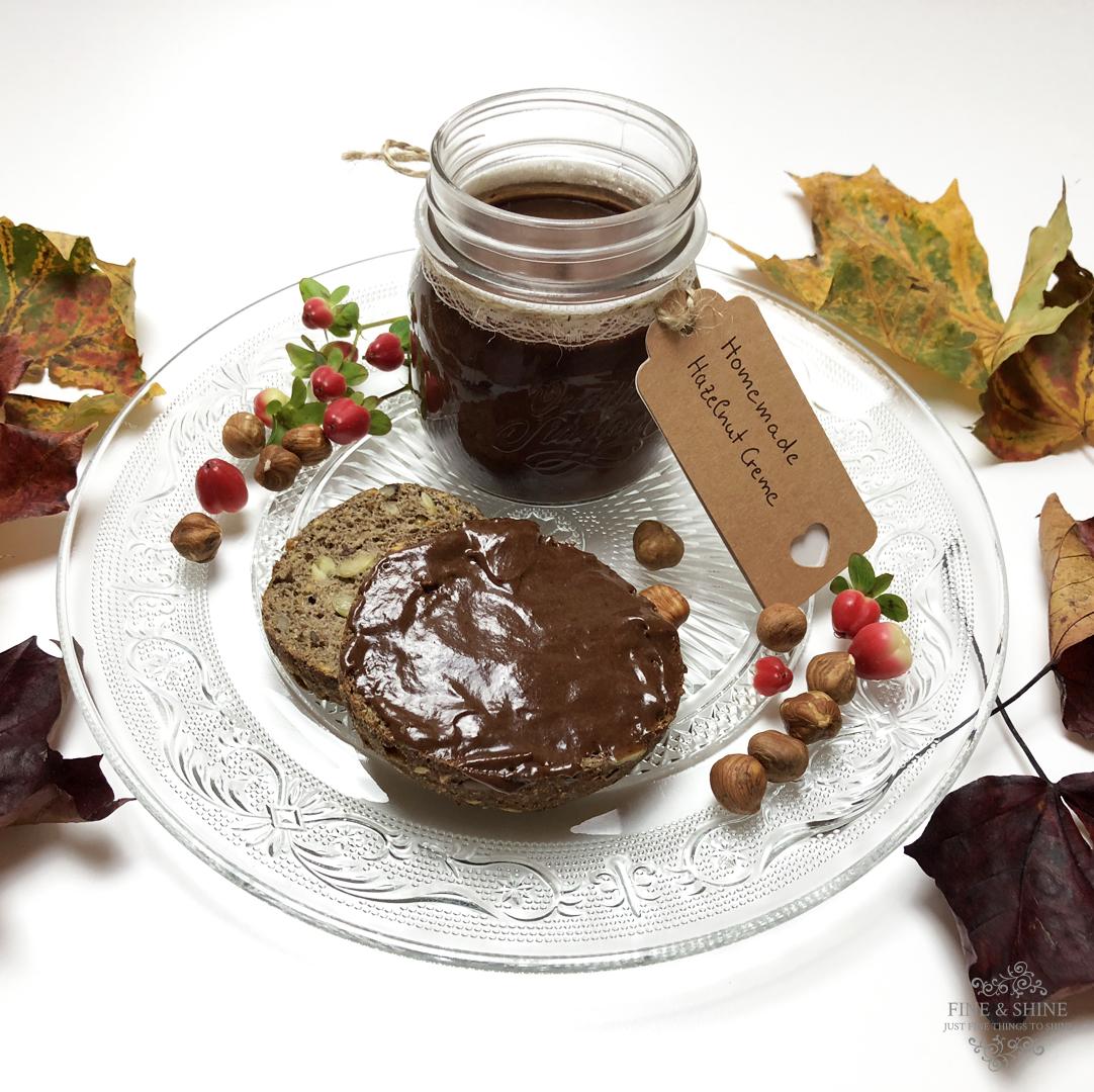 Brotaufstrich, Glutenfrei, Haselnuss Creme, Lactosefrei, Paleo, vegan, Vegetarisch