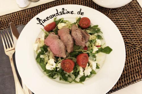 Bratkartoffeln, Filet, Filetsteak, Glutenfrei, Laktosefrei, Paleo, Parmesan, Rinderfilet, Rindfleisch, Rucola, Rucolasalat, Salat, Steak, Tagliata di Manzo