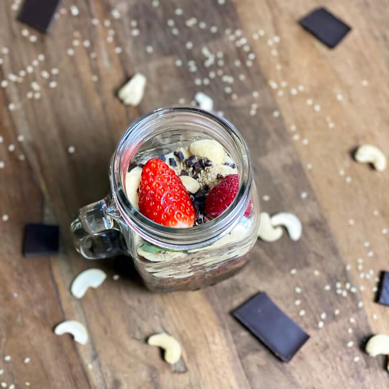 Quinoa-Porridge mit Schoko